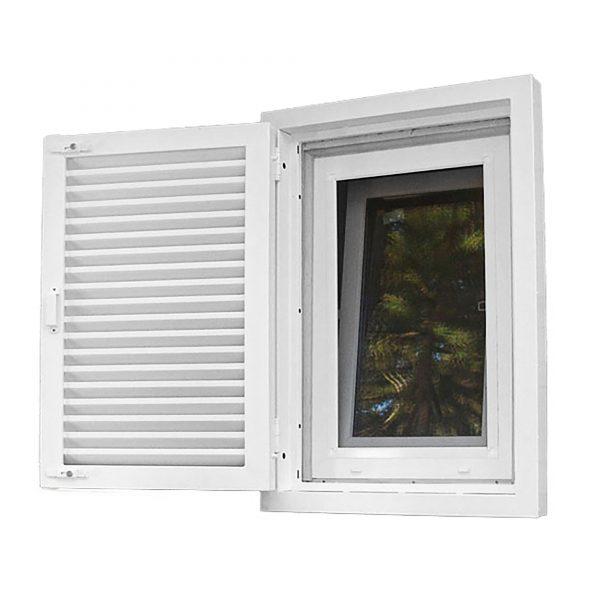 Ставни на окна жалюзи решетчатые одностворчатые