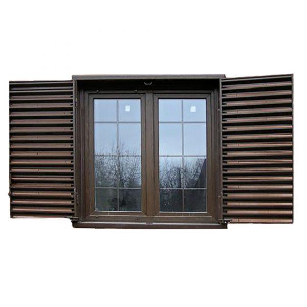 Ставни на окна с вентиляцией двустворчатые