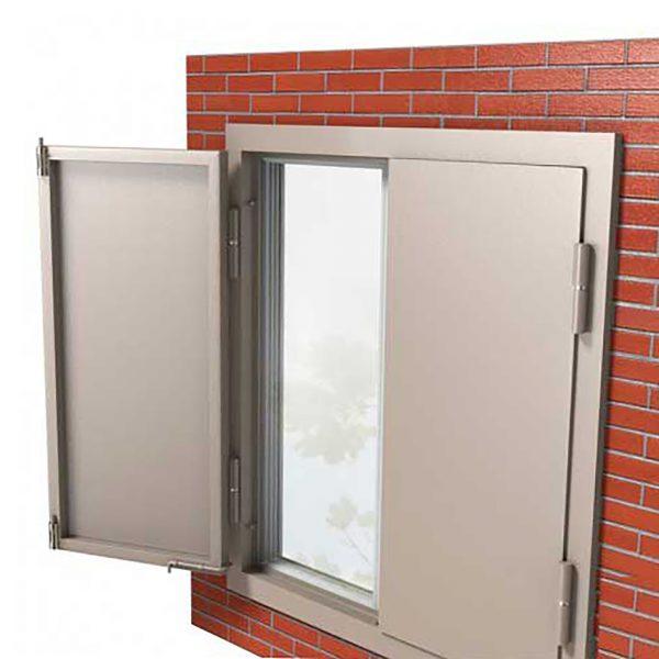 Ставни на окна двустворчатые